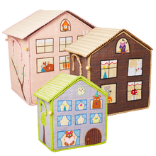 Load image into Gallery viewer, RICE Toy Basket Wood House Theme