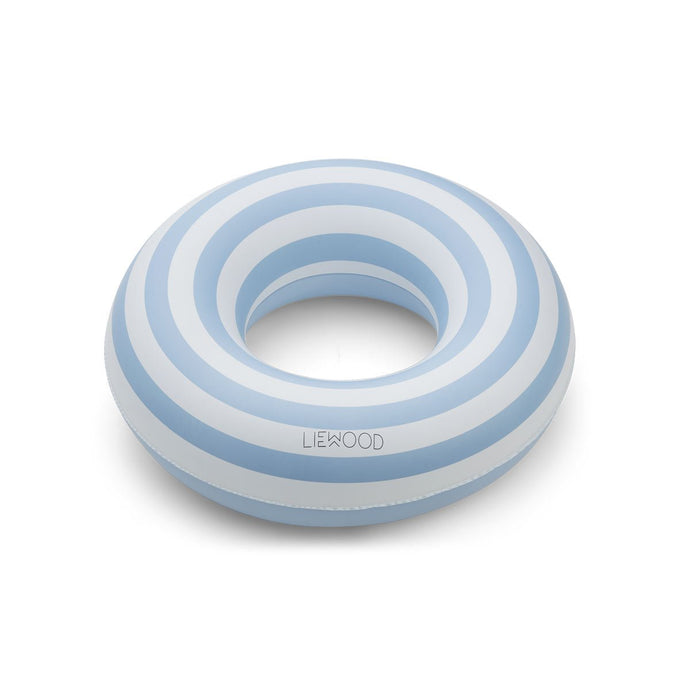 Liewood Balo Swim Ring Stripe: Sea blue/creme de la creme