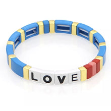 Load image into Gallery viewer, Laviandbelle Blue Rainbow Love Bracelet