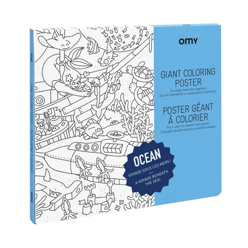 Omy Giant Colouring Poster Ocean