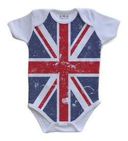 Premium Cotton Union Jack Baby Bodysuit
