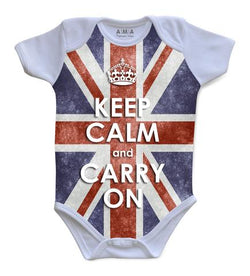 Premium Cotton Keep Calm Baby Bodysuit