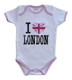Premium Cotton I Love London Baby Bodysuit