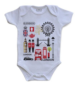 Premium Cotton London Sights Baby Bodysuit