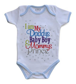 Premium Cotton Prince & Princes Baby Bodysuit