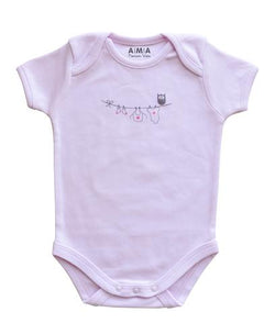 Premium Cotton Owl Baby Bodysuit
