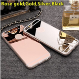 Luxury Black Platted Mirror Soft & Ultra Slim Cases for iPhone & Samsung Phones