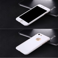 Hybrid 360° Tempered Glass + Acrylic Hard Case Cover For iPhone