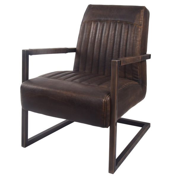 Jonah Arm Chair Leather Masculine Seating City Home Portland Oregon