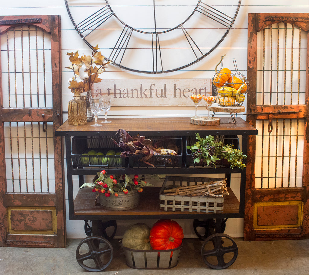 Thanksgiving Bar Cart