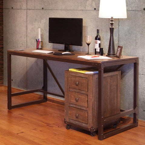 Urban Gold Office Desk City Home Furniture Portland Oregon Industrial Modern