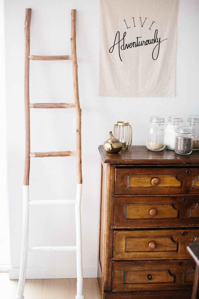 Hand dipped branch ladder