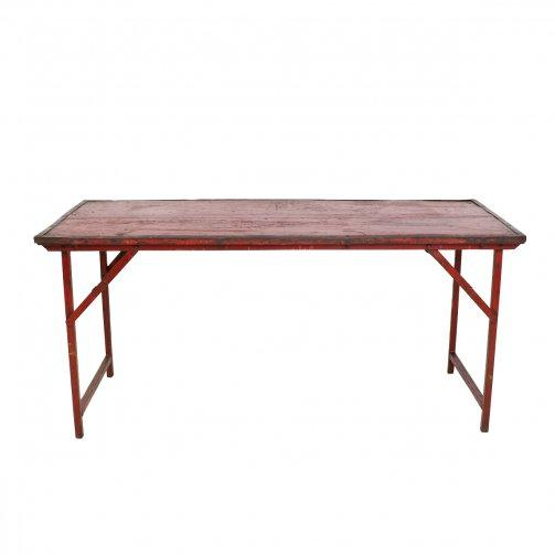 Vintage Iron Frame Folding Wedding Table - City Home - Portland Oregon - Furniture and Home Decor