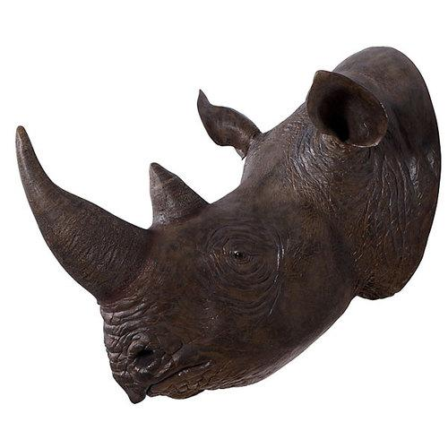 Replica Rhinoceros Head Wall Decor - City Home - Portland Oregon - Furniture and Home Decor