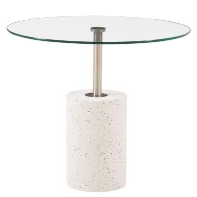 Sharon Concrete & Glass Top Coffee / End Table