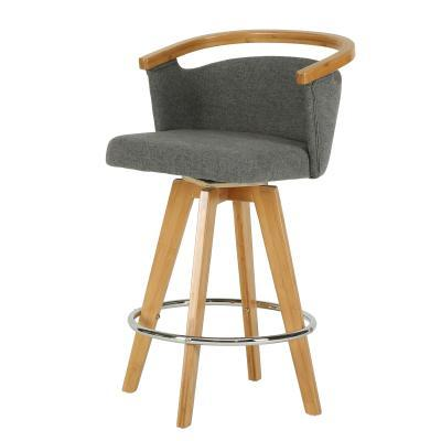 Luca Bamboo Swivel Stool - City Home - Portland Oregon - Furniture and Home Decor