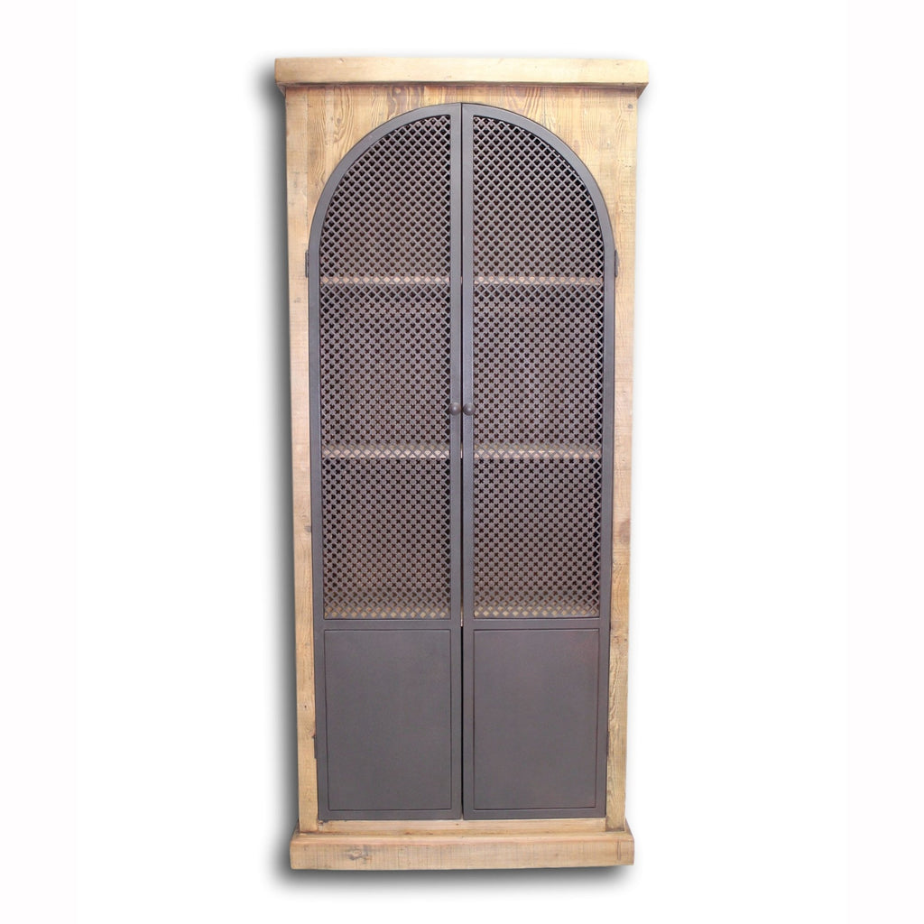 Arch Wood & Iron Cabinet - City Home - Portland Oregon - Furniture and Home Decor