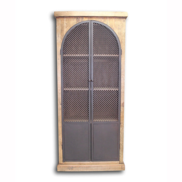 Arch Wood & Iron Cabinet
