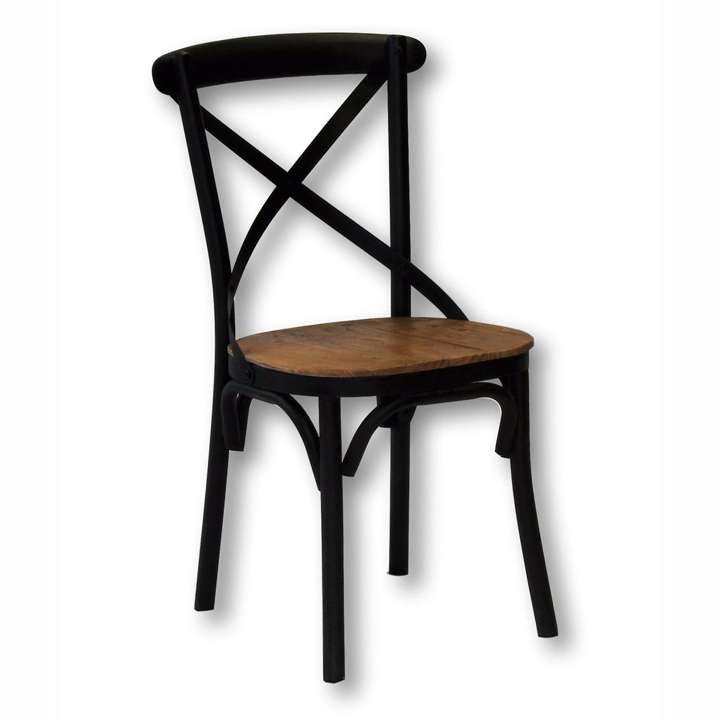 Xavier Wood & Iron Dining Chair
