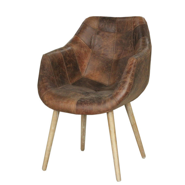 Mackenzie Leather Dining Chair - City Home - Portland Oregon - Furniture and Home Decor