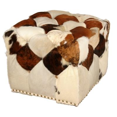 Dean Cowhide Stool - City Home - Portland Oregon - Furniture and Home Decor