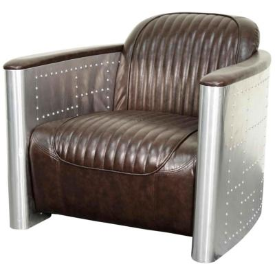 Easton Aviator Chair Industrial Aluminum Amp Leather Chair