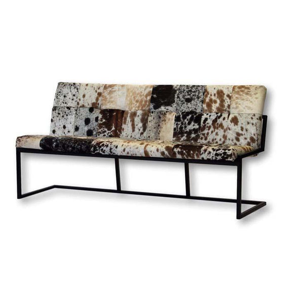 Hunter Cowhide Bench - City Home - Portland Oregon - Furniture and Home Decor