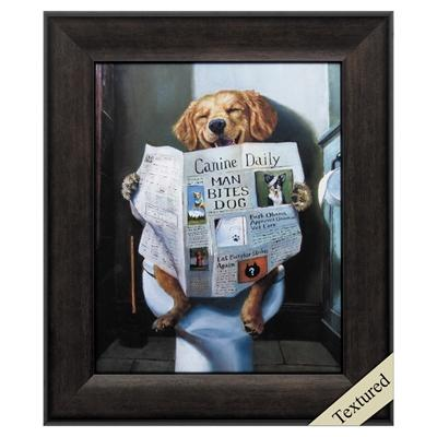 "Framed Animal Wall Art ""Man Bites Dog"" - City Home - Portland Oregon - Furniture and Home Decor"