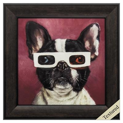 "Framed Animal Wall Art ""3D Dog"" - City Home - Portland Oregon - Furniture and Home Decor"