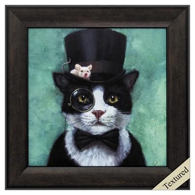 "Framed Animal Wall Art ""Tuxedo Cat"" - City Home - Portland Oregon - Furniture and Home Decor"