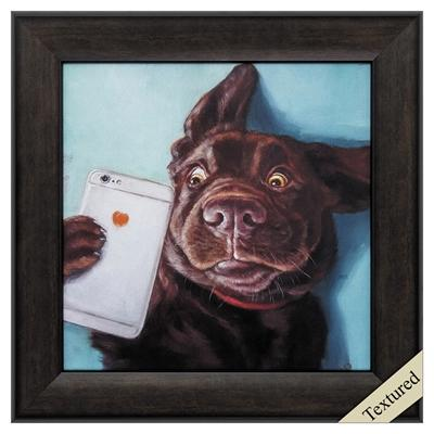 "Framed Animal Wall Art ""Dog Selfie"" - City Home - Portland Oregon - Furniture and Home Decor"