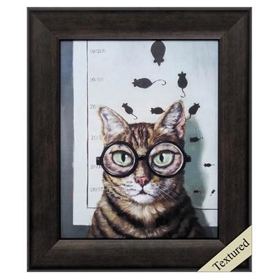 "Framed Animal Wall Art ""Feline Eye Exam"" - City Home - Portland Oregon - Furniture and Home Decor"