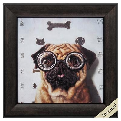 "Framed Animal Wall Art ""Canine Eye Exam"" - City Home - Portland Oregon - Furniture and Home Decor"
