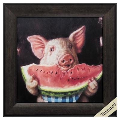 "Framed Animal Wall Art ""Pig Out"" - City Home - Portland Oregon - Furniture and Home Decor"