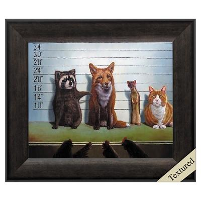 "Framed Animal Wall Art ""The Usual Suspects"" - City Home - Portland Oregon - Furniture and Home Decor"