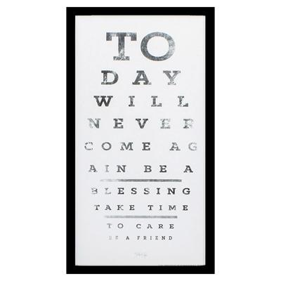 Inspirational Eye Chart Wall Art - City Home - Portland Oregon - Furniture and Home Decor