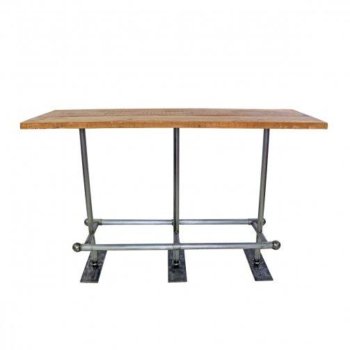Reclaimed Metal & Wood Pub Table - City Home - Portland Oregon - Furniture and Home Decor