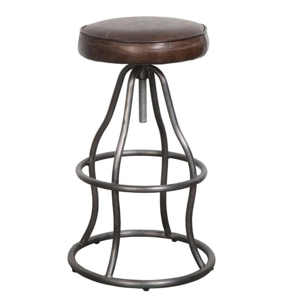Bowie Leather Bar Stool - City Home - Portland Oregon - Furniture and Home Decor