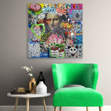 """Oh Hello!"" Canvas Wall Art - City Home - Portland Oregon - Furniture and Home Decor"