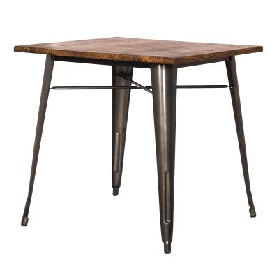 Metropolis Wood & Metal Table