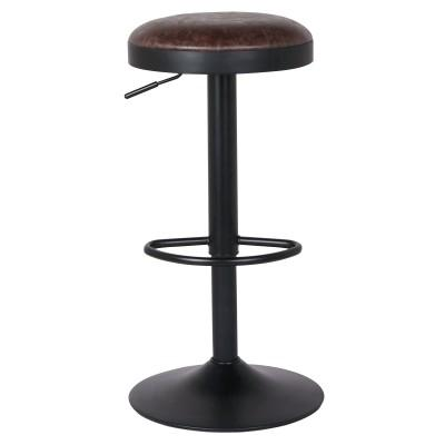 Juno Gaslift Faux Leather Barstool