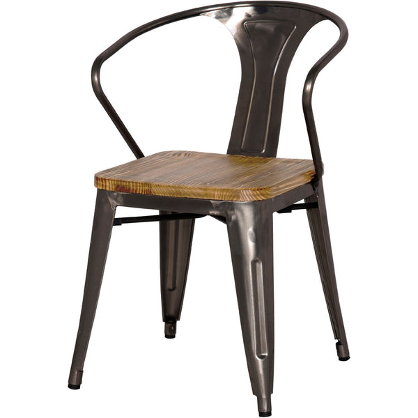 Metropolis Wood Seat Arm Chair - City Home - Portland Oregon - Furniture and Home Decor