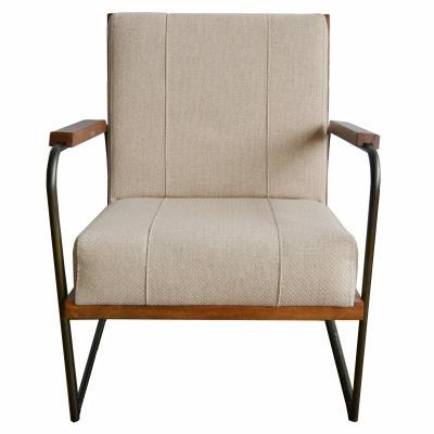 Damian Tan Fabric Accent Chair - City Home - Portland Oregon - Furniture and Home Decor