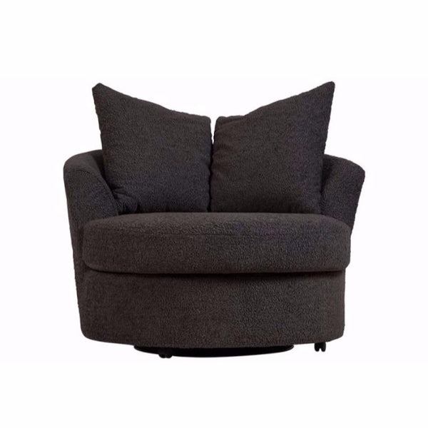 Fuzzy Swivel Chair - City Home - Portland Oregon - Furniture and Home Decor