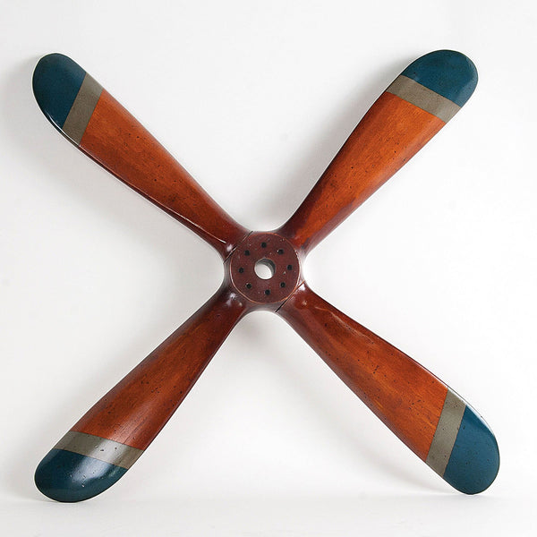 Vintage Style Wood Airplane Propeller - Small