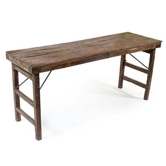Vintage indian wedding table rustic reclaimed wood for Portland reclaimed wood furniture
