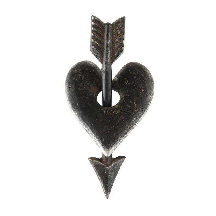 Cast Iron Heart and Arrow Decoration - City Home - Portland Oregon - Furniture and Home Decor