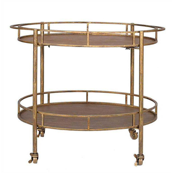 Oval Bar Cart on Casters