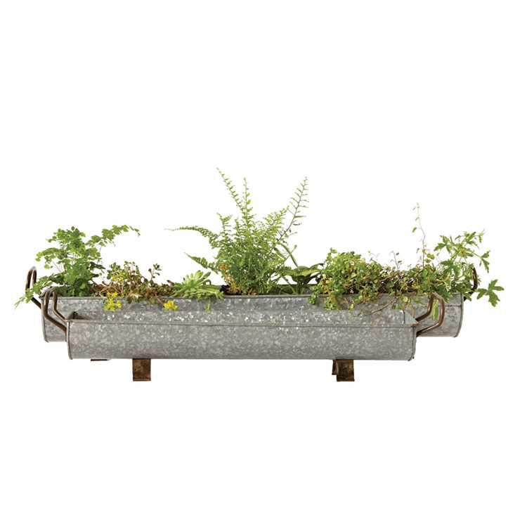 Popular Galvanized Container with Handles | Industrial Planter | City Home RY23