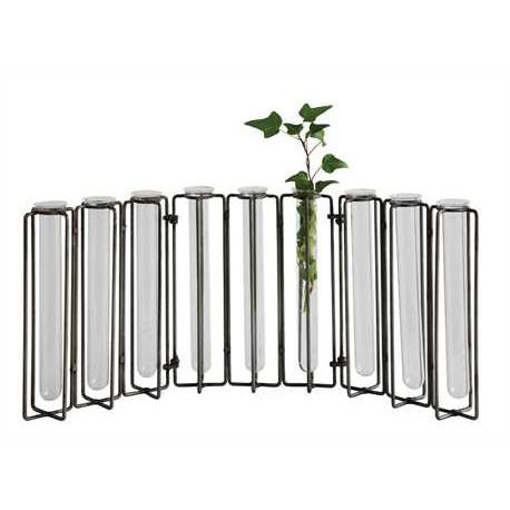 Metal and Glass Test tube Vase - City Home - Portland Oregon - Furniture and Home Decor